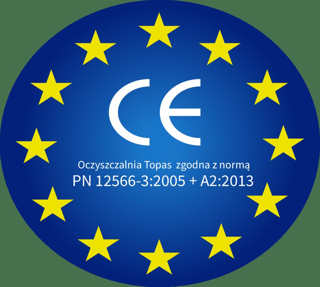Certyfikat CE dla oczyszczalni ścieków