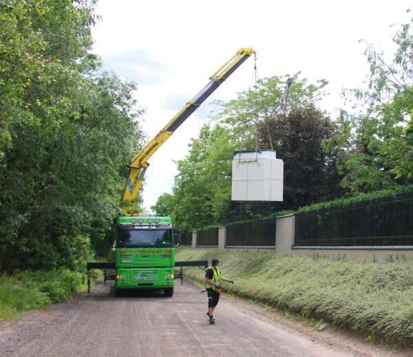 Transport oczyszczalni ścieków Topas 20